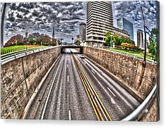 Acrylic Print featuring the photograph Highway Into St. Louis by Deborah Klubertanz