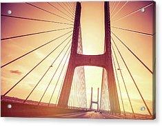 Highway On Vasco Da Gama Bridge In Acrylic Print