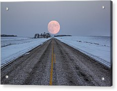 Highway To The Moon Acrylic Print by Aaron J Groen