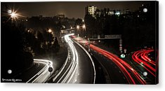 Acrylic Print featuring the photograph Highway's Lights by Stwayne Keubrick