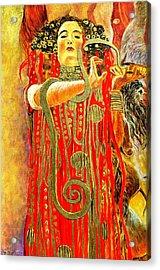 Higieja-according To Gustaw Klimt Acrylic Print