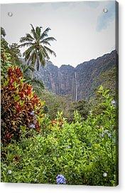 Hiilawe And Hakalaoa Falls Acrylic Print