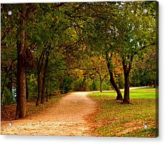 Hike And Bike Trail Acrylic Print by James Granberry