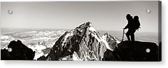 Hiker, Grand Teton Park, Wyoming, Usa Acrylic Print