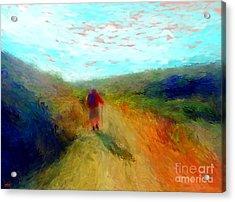 Hiker On Path Acrylic Print