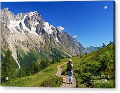 hiking in Ferret Valley Acrylic Print
