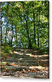 Hiking In Virginia Kendall Acrylic Print by Kristin Elmquist