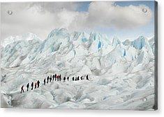 Hiking On Perito Moreno Acrylic Print