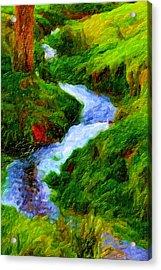 Hill And Rill Acrylic Print