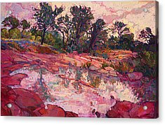 Acrylic Print featuring the painting Hill Country Dawn by Erin Hanson
