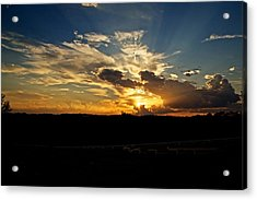 Hill Country Sunset Acrylic Print