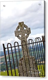 Hill Of Tara Celtic Cross Acrylic Print