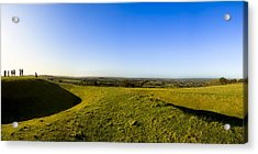 Hill Of Tara - Landscape Panorama Acrylic Print by Mark E Tisdale