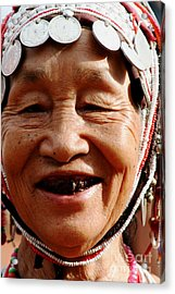 Acrylic Print featuring the photograph Hill Tribe Smile by Nola Lee Kelsey