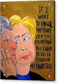 Hillary Acrylic Print by Jennie Cooley