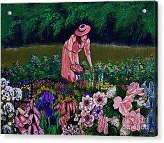 Hillary's Garden Acrylic Print by Linda Simon