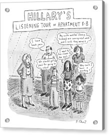 'hillary's Listening Tour Of Apartment 8-b' Acrylic Print