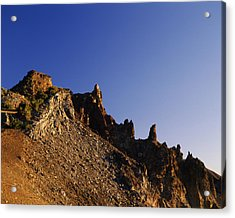 Hillman Peak Crags At Sunrise, Crater Acrylic Print