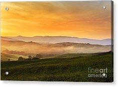 Hills And Fog Acrylic Print