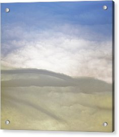 Hills Clouds And Sky Acrylic Print by Susan Leggett