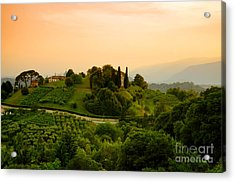Hills Of Asolo Acrylic Print by Sabine Jacobs