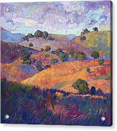 Acrylic Print featuring the painting Hills Of Paso by Erin Hanson