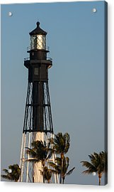 Hillsboro Inlet Lighthouse In The Evening Acrylic Print