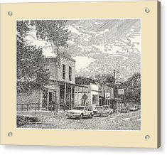 Main Street New Mexico N M Acrylic Print by Jack Pumphrey
