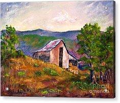 Hillside Barn Acrylic Print by Bruce Schrader