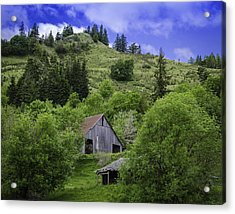 Hillside Barn Acrylic Print by Chris Malone