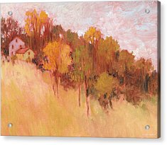 Hillside Trees Acrylic Print