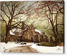 Hilltop Holiday Home Acrylic Print by Jessica Jenney