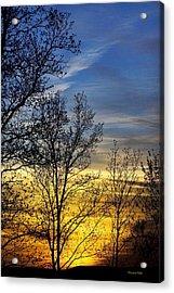 Hilltop Sunset Acrylic Print by Christina Rollo