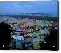 Hilltop View Acrylic Print by Bobbi Mercouri