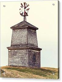 Hilltop Windmill Acrylic Print by Richard Bean
