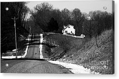 Hilly House Acrylic Print by Charlie Spear
