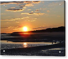 Hilton Head Sunset Acrylic Print by Cindy Croal