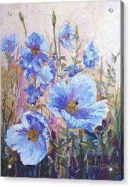 Himalayan Blue Poppies Acrylic Print