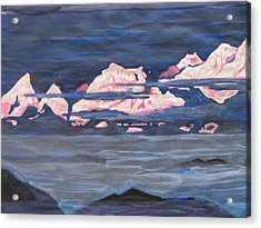 Acrylic Print featuring the painting Himalayas Of India by Vikram Singh
