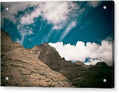 Himalyas Mountains In Tibet With Clouds Acrylic Print