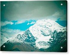 Himalyas Range Closeup View From Tibet Acrylic Print