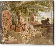 Hindu Fakir, From India Ancient Acrylic Print by William 'Crimea' Simpson