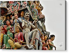 Hindu Gods And Goddesses At Temple Acrylic Print