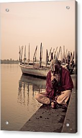 Hindu Priest Offering Prayers Acrylic Print