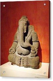 Hindu Statue God Ganesha Acrylic Print by Brigitte Emme