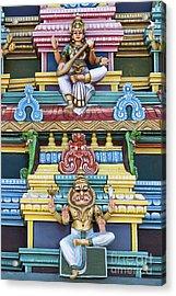 Hindu Temple Deity Statues Acrylic Print by Tim Gainey
