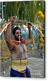 Acrylic Print featuring the photograph Hindu Thaipusam Festival Pierced Devotee  by Imran Ahmed
