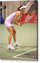 Hingis In Doha Acrylic Print by Paul Cowan