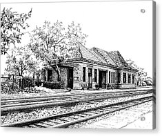 Hinsdale Train Station Acrylic Print