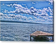 Hint Of Fall In The Clouds Acrylic Print